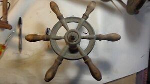 "Vintage Boat or Ships 12"" Spoked Steering Wheel ,Sail, Power"