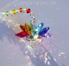 m/w Swarovski Mini Chakra HEALING Colors LOTUS Suncatcher Lilli Heart Designs