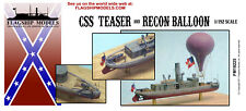 1/192 CSS Teaser & Recon Balloon World's 1st Aircraft Carrier (5.5 Inches Long)