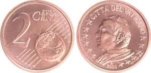 Vatikan 2 Cent 2003 Kursmünze mit Papstmotiv prägefrisch