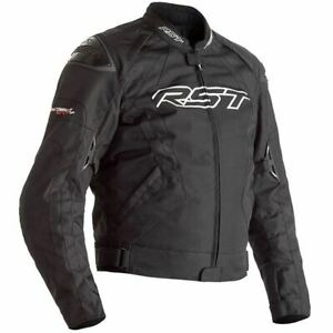 RST Tractech Evo 4 CE Mens Black Textile Motorcycle Jacket