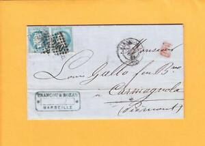 France Merchant Folded Letter 1868 Francou & Rozan Marseille Small Red PD Box ZX