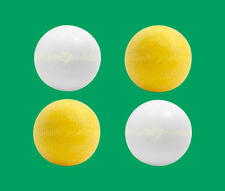 4 Foosballs: 2 White Smooth & 2 Yellow Textured Table Soccer Balls
