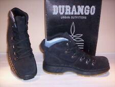 Zapatos altos zapatos safari botas Durango hombre piel de ante en negro nuevo 45