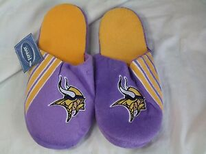 NFL Minnesota Vikings Stripe Logo Slide Slippers Size Men Large by FOCO