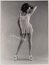 "Fashion SEXY CROTCHET MINI - NO UNDIES / HÄKELKLEID Mode * Vintage 60s Photo ""L"""