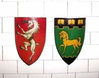 MINIATURE HERALDIC SHIELDS 1:12th SCALE MEDIEVAL TUDOR DOLLS HOUSE - HANDMADE