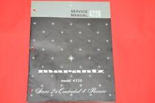 Original Service Manual: Marantz Model 4220 Quadro Receiver (English Language)!