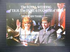 TUVALU Nanumaga Wholesale 1986 Royal Wedding M/Sheet x 100 U/M SALE PRICE FP1213