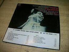 Aretha Franklins Greatest Hits LP - WXYZ Detroit Studio Copy - Rare