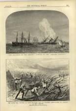 1878 FORT fordyce Artiglieria Reale 90th REGGIMENTO canale collisione vomitevole kurfur