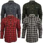 Brave Soul Mens Long Sleeve Lumberjack Tartan Check Cotton Smart Casual Shirt