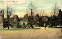 Vintage Postcard - Un-Posted Bear Pits At The Zoo Buffalo New York NY #3666