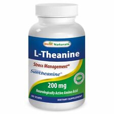 Best Naturals L-Theanine 200 mg 60 Vcaps featuring clinically proven Suntheanine
