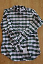 NWOT Thom Browne Green White Oxford Cloth Wing Collar Shirt TB1 15-33.5