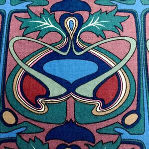 Jonelle Fabric 'Laertes' Burgundy,Green,Blue & Cream Cotton Fabric FQ 61x48cm