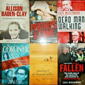 AUSTRALIAN TRUE CRIME..BULK LOT X 6..BADEN-CLAY / McGURK / BEAUMONT  VGC  WD