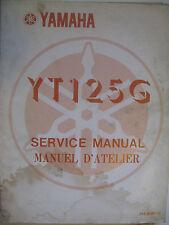 1981 Yamaha YT125 G: Factory Service Manual