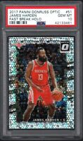 2017 Panini Donruss Optic #51 JAMES HARDEN Fast Break Holo PSA 10 GEM MINT POP 6