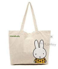 Miffy Lovely Canvas Shopping Bag Handbag Tote Bag