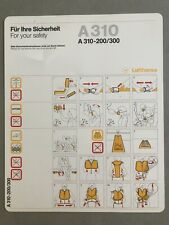 Lufthansa A310 200/300 Safety Card