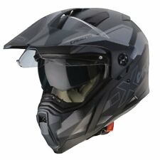 New - Caberg X-Trace Spark Motorcycle Dual Sport Helmet - Black/Anthracite/Silve