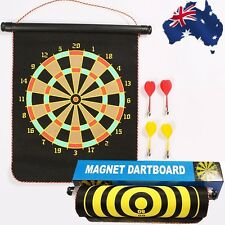 Magnetic Magnet Reversible Double-sided Safe Dart Board 4 Darts Gift ODART1201