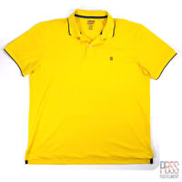 IZOD Basix Mns XL Short Sleeve Polyester Performance Polo Shirt Cool-FX Yellow