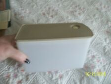 "Tupperware Vintg.  Storage Container #2 & Vented Seal  #5198A-5  8x4x4.5""T ~"