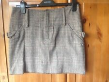 Burberry  Womens Skirt 100% Cotton Brown check Size 38