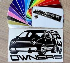 VW GOLF R32 MK4 OWNERS Car Club Sticker Vinyl Decal Adhesive Window Bumper