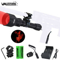 500Yard Green Red LED Zoom Coyote Hog Varmint Predator Hunting Flashlight  Mount