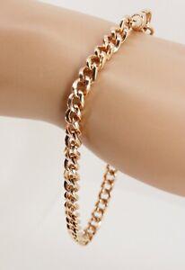 """Victorian Edwardian 9ct Gold Fancy Link Albert Watch Chain Bracelet 8.25"""" NICE1"""