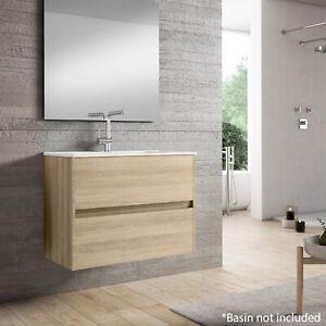 Limoge Alba 80cm 2 Drawer Basin Unit in European Oak