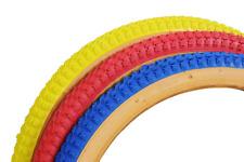 "20"" x 1.75"" Snake Belly Freestyle BMX Ramp Street Bike Tyre Red Yellow Blue"