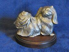 Rawcliffe Pewter Ed Harris Limited Edition 108/950 Pekingese Dog with Wood Base