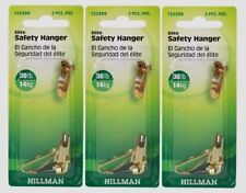 3~New! Hillman AnchorWire 30 lb. Steel Safety Picture Hanger 2 pk 122389