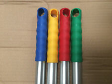 4 x Colour Coded Mop Handles Green Red Blue Yellow Food Hygiene Safe Janitorial