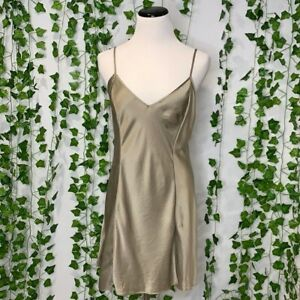 Victoria Secret Gold Satin Slip Dress Size Medium