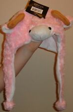 Faux Fur trapper hat Pink Sheep one size 100% polyester