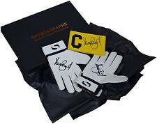Dave Beasant SIGNED Pair Goalkeeper Gloves & Captains Armband Autograph Gift Box