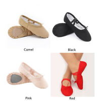 Women Girls Adult Canvas Split Sole Ballet Dance Shoes Pointe Slippers Yoga Shoe