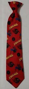 The Amazing Spiderman - Boys Kids Clip-On Marvel Tie Necktie