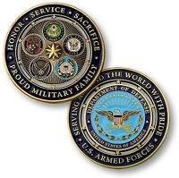 New Proud Military Family US Armed Forces DOD Challenge Coin