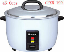 Davidson Commercial Rice Cooker 7.8 Litre Cooking/Keep Warm 45 Cup (15A power)