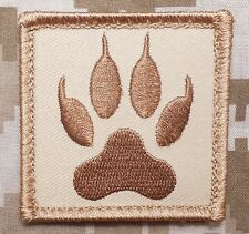 WOLF TRACKER PAW USA ARMY MORALE BADGE DESERT VELCRO® BRAND FASTENER PATCH