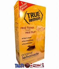 True Lemon Original Lemonade Drink Mix 5 Pitcher Packs 60g Box Makes 10 Quarts