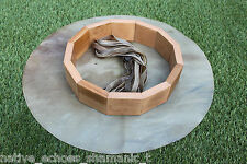 """12"""" Red Stag Rawhide Drum & Beater Kit. Birth/Make your Own Shamanic Drum Kit."""