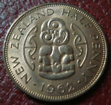 1962 NEW ZEALAND HALF PENNY IN UNCIRCULATED CONDITION