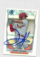 Oscar Tavares St Louis Cardinals Autographed 2014 Bowman Chrome Mini Ref #BMSTL1